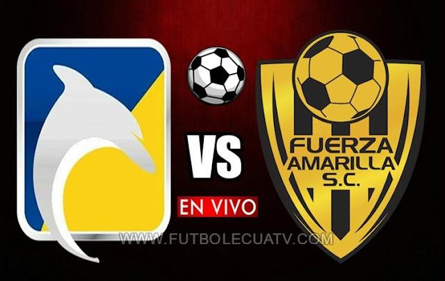 Delfín recibe a Fuerza Amarilla en vivo ✅ a partir de las 12:00 horario de nuestro país por la fecha 16 del 🏆 campeonato ecuatoriano a realizarse en el estadio Jocay de Manta, siendo el árbitro principal Diego Lara con emisión del medio autorizado GolTV Ecuador.