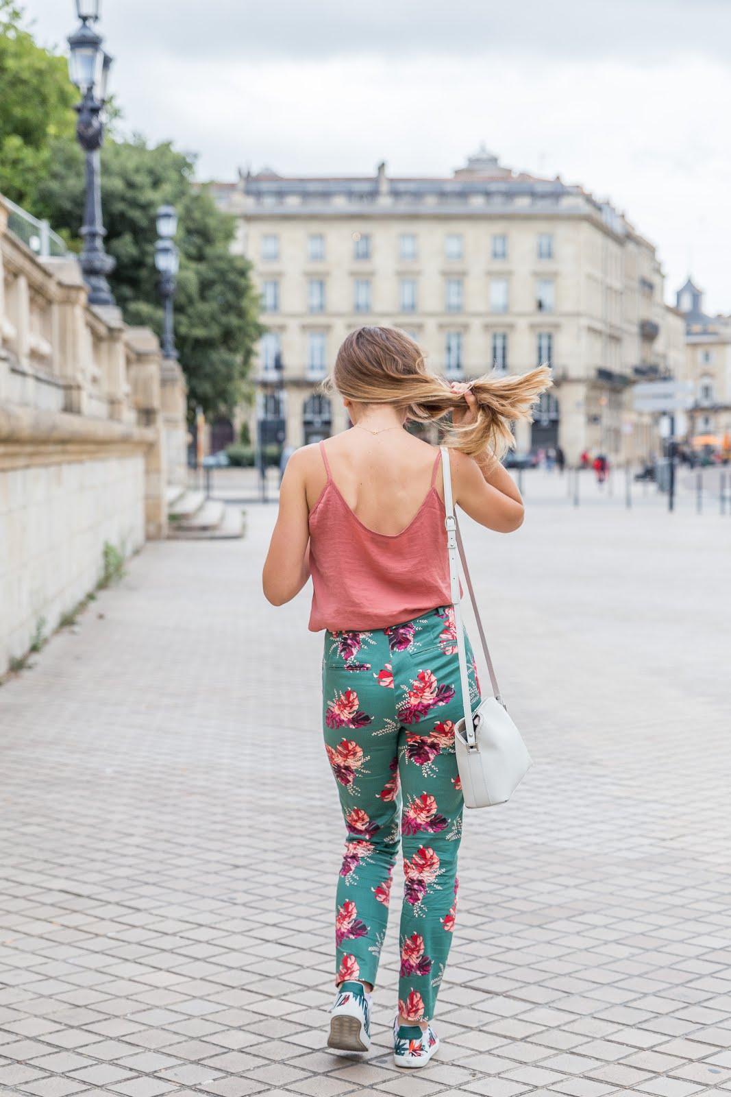Pantalon à motifs tropical La Redoute