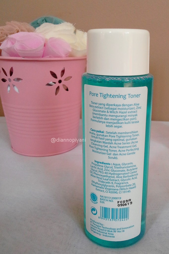 Wardah Pore Tightening Toner Review Beaufavele By Diannopiyani