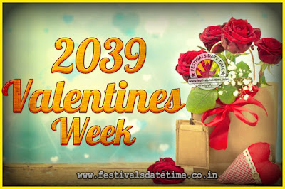 2039 Valentine Week List : 2039 Valentine Week Schedule, Hug Day, Kiss Day, Valentine's Day 2039