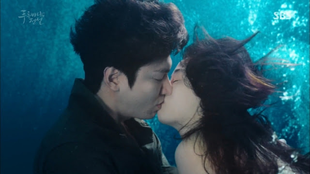 《藍色海洋的傳說》美人魚全智賢,水下拍攝特輯