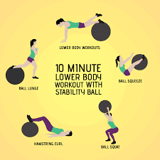 Source Sfitnessrepublic Fitness Exercises 10 Minute Lower Body Workout With Stability Ball