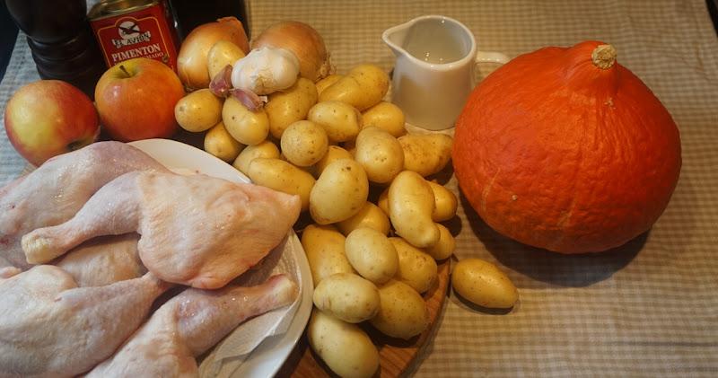 Hähnchen mit Kartoffeln und Kürbis | Zutaten