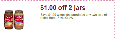 Heinz homestyle gravy coupons