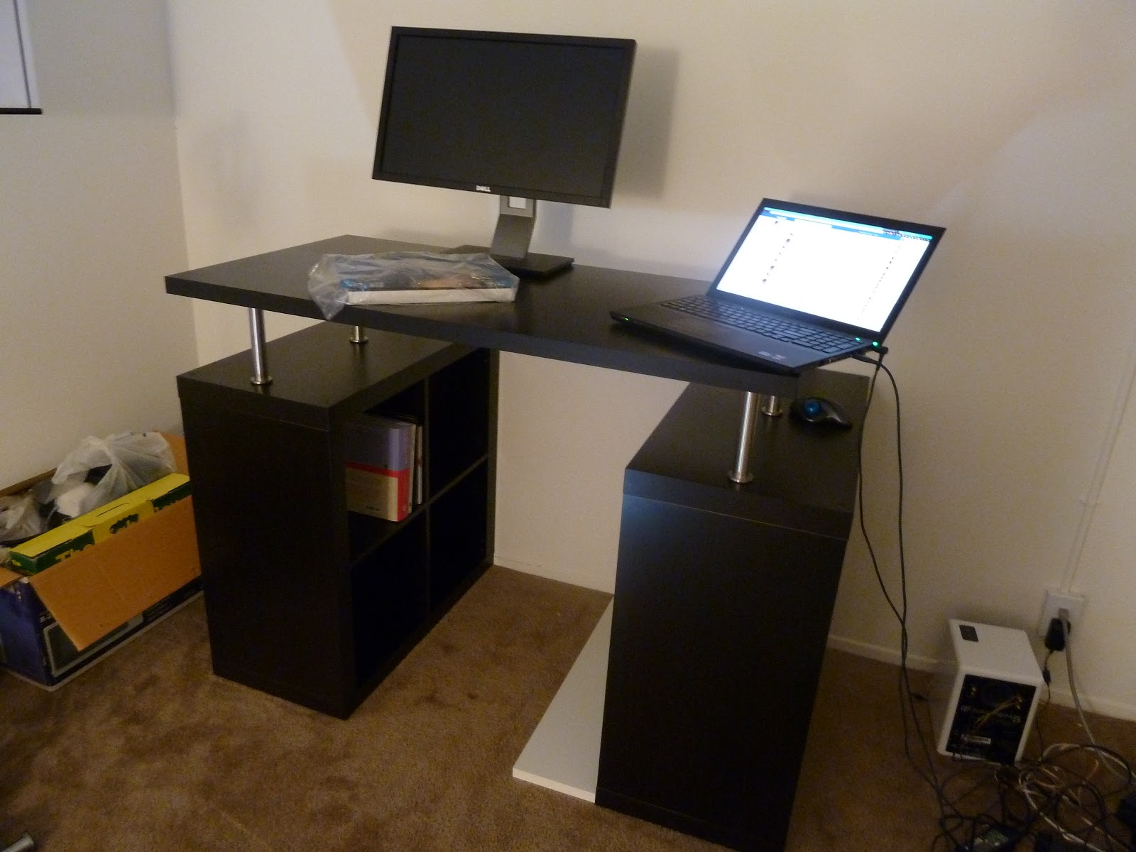 Short Blue Sky: My DIY Standing Desk with IKEA parts