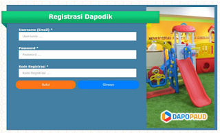 Langkah-Langkah Registrasi Dapodik PAUD 2019