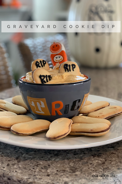 Cookie dip made with cream cheese and pumpkin