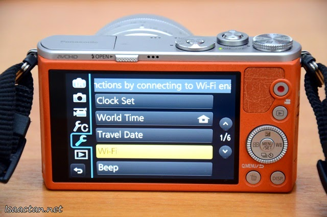 My favourite function, the Wi-Fi capability of the Lumix GM1
