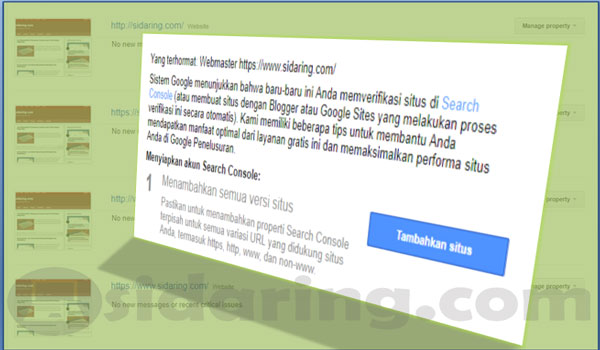 cara verifikasi search console, google console, google submit webmaster, daftar webmaster tool