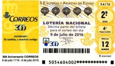 loteria especial julio