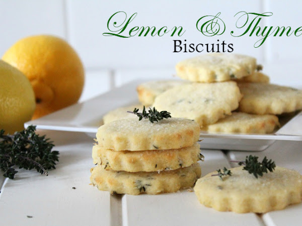 Lemon and Thyme Biscuits