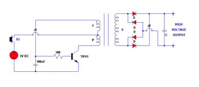 3v electronic stun gun circuit electronic circuit Electrical Outlet Wiring Diagram Electrical Schematic Wiring Diagram