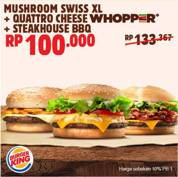 Kupon Promo Burger King April 2017