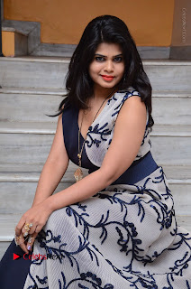 Telugu Actress Alekhya Stills in Blue Long Dress at Plus One ( 1) Audio Launch  0131.jpg
