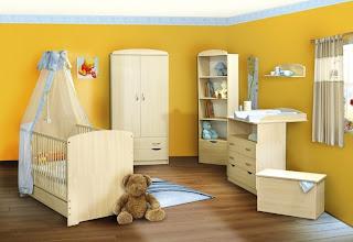 habitación amarilla bebé