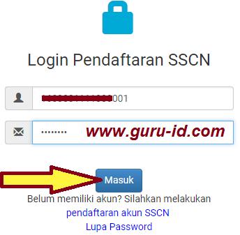 gambar login sscn bkn go id daftar cpns 2017