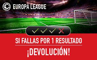 sportium devolucion combinada Europa League 14 septiembre