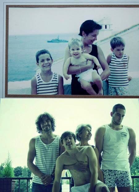 foto unik keluarga yang tidak berubah momennya setelah puluhan tahun-3