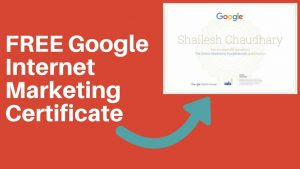 Google Online Internet Marketing Certificate