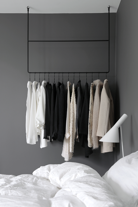 Bedroom clothes rack inspiration | Stylizimo