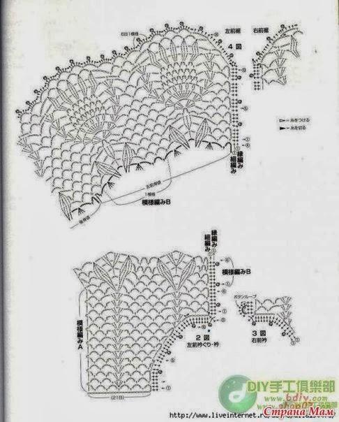 Crochet Knitting Handicraft: Bolero for girl