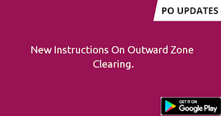 New Instructions On Outward Zone Clearing.