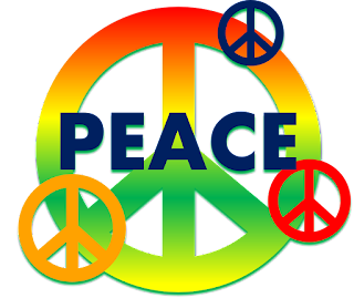 Colorful Peace Sign Clipart Image