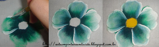 pintura em tecido flores pap