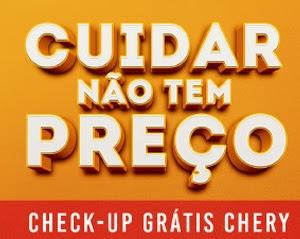 Cadastrar Promoção Chery 2017 Check-UP Cuidar Não Tem Preço