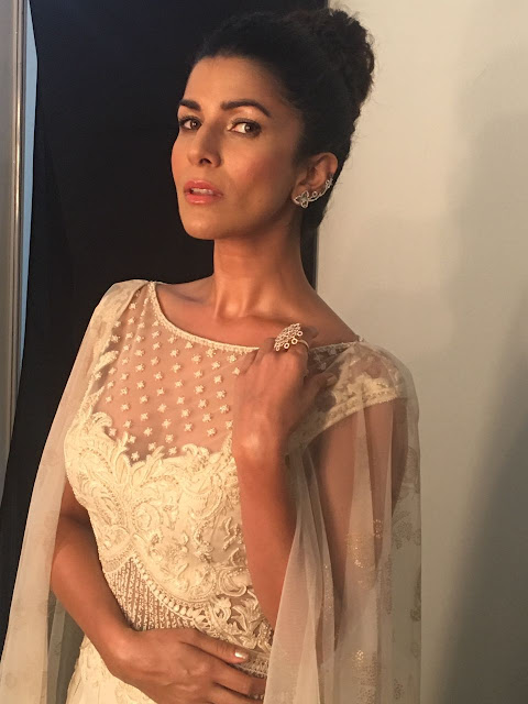 Spotted: Actress Nimrat Kaur was recently Spotted at  Amazon Indian Fashion Week for Mandira Wirk and Jewellery from Aurelle by Leshna Shah.