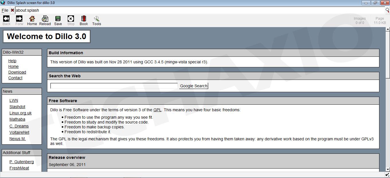 Dillo Browser Screenshot