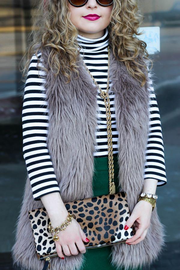 Chicwish Faux Fur Vest, Lawyer Lookbook
