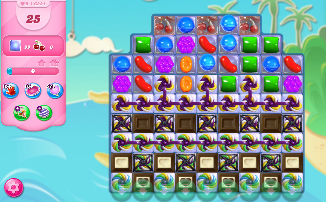Candy Crush Saga level 6221