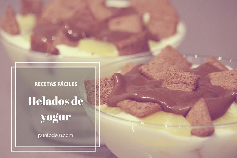 Recetas fáciles para hacer helado de yogur Punto de Lu