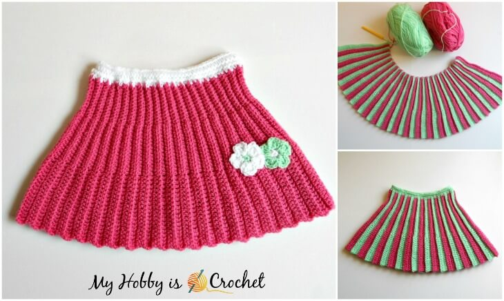 Pleated Mini Skirt - Free Crochet Pattern