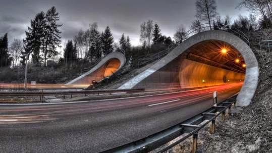 vẽ photoshop vệt sáng cho đường hầm, đường đi. công cụ đơn giản