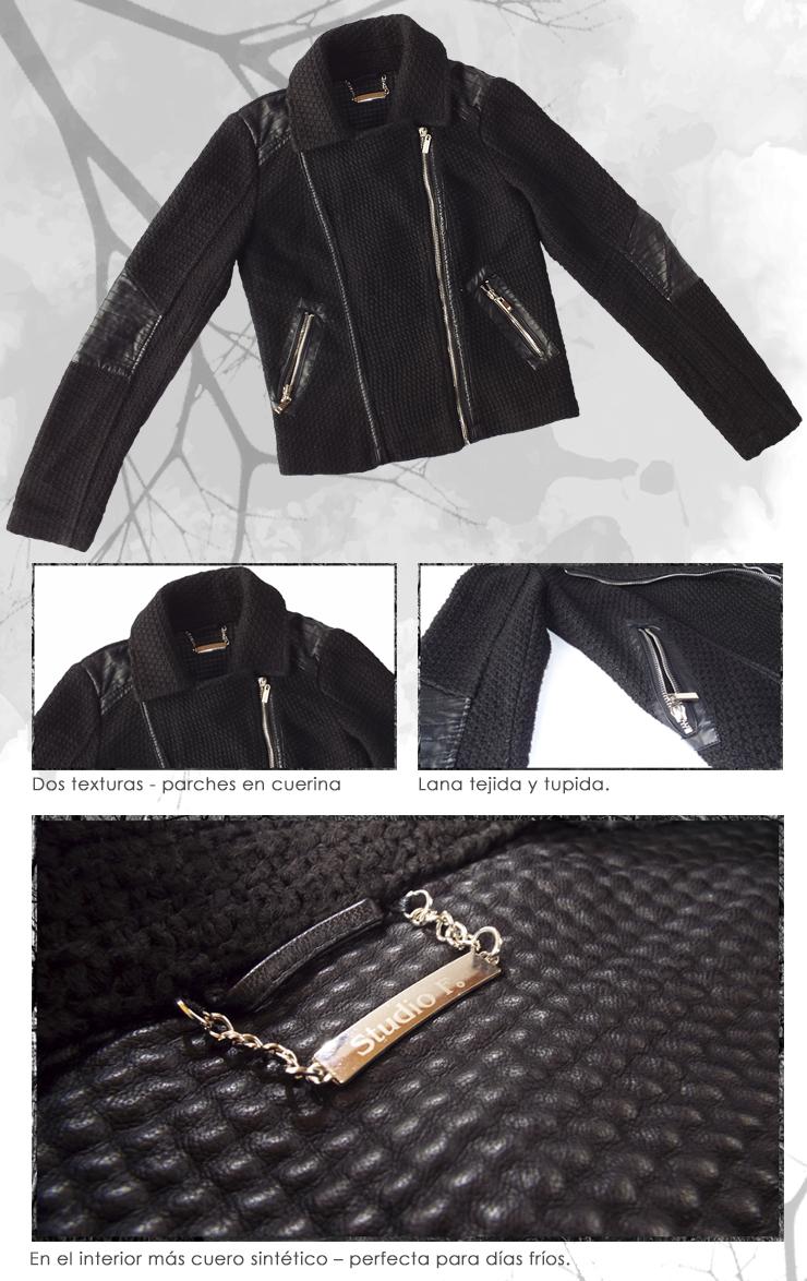 rockera chaqueta para invierno estilo oscuro