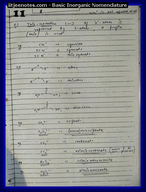 Inorganic Nomenclature11