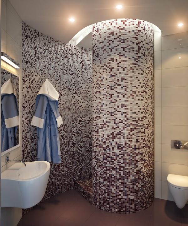 Piastrelle mosaico per rivestimenti bagno - Piastrelle bagno mosaico doccia ...