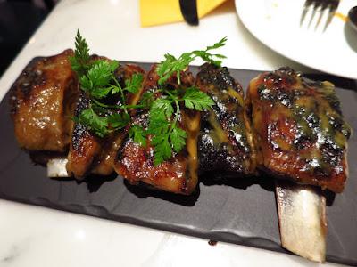 La Tapería, charcoal grilled lamb rib confit