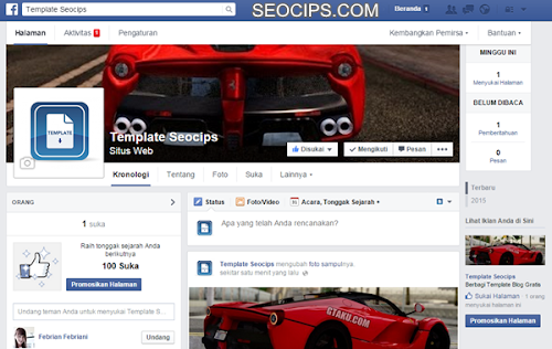 Fanspage Facebook Template Seocips