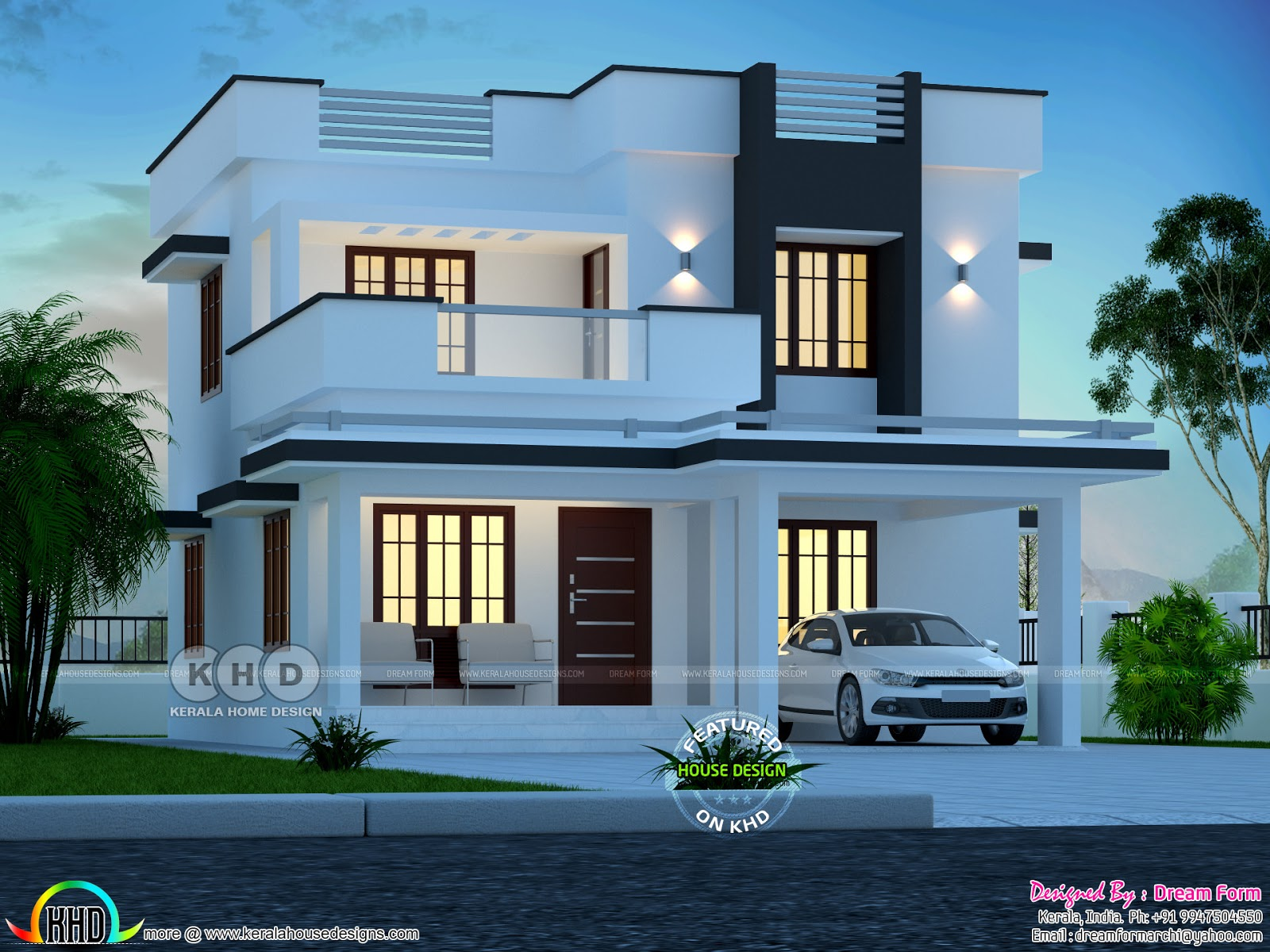 3 bedroom 1700 sq.ft modern home design - Kerala home ...