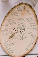 guestbook con rondella di albero