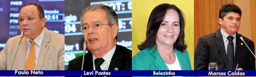 Eleições 2018: Partidos registram candidatura de Paulo Neto, Levi Pontes, Belezinha e Marcos Caldas para deputado estadual.