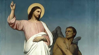 The Temptation of Jesus by Satan in the wilderness