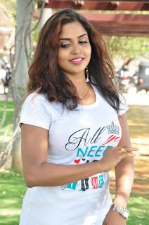 Actress Karunya Chowdary Stills in Jeans at Veda Enterprises Movie Launch  0002.jpg