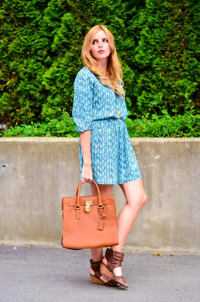 H&M Boho Teal Dress