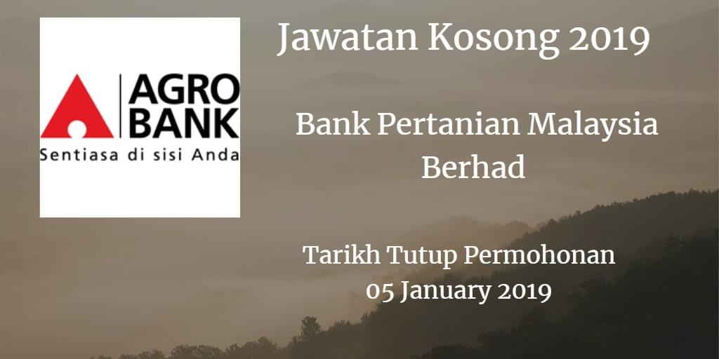 Jawatan Kosong Agrobank 05 January 2019