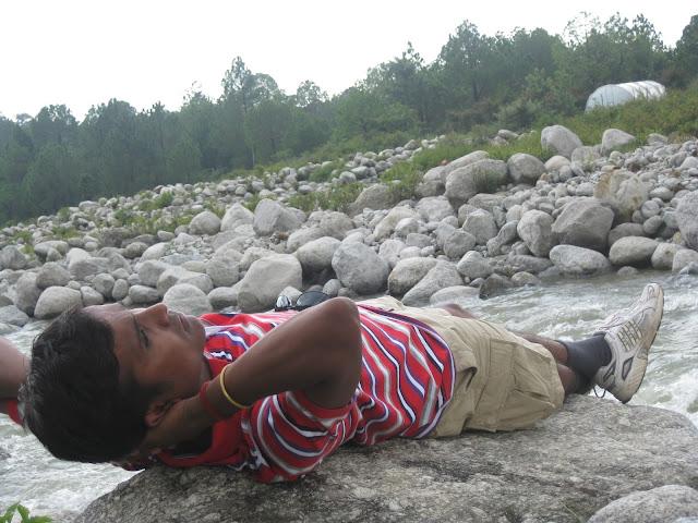 resting in river