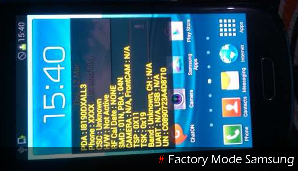 Mengatasi Factory Test Mode Samsung